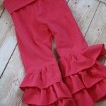Pink Ruffle Pants www.fawnandclover.com