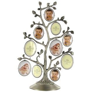 silver family tree frame