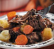 If you're looking for a traditional pot roast recipe, try this 5-star, no-fail version. Cuts of beef that perform well for pot roasting go by many different names: Blade roast, cross-rib roast (or shoulder clod), seven-bone pot roast, arm pot roast, and boneless chuck roast are all acceptable cuts.