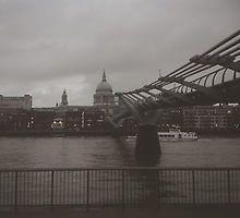 Millennium Bridge, London by Eliza Gwynne