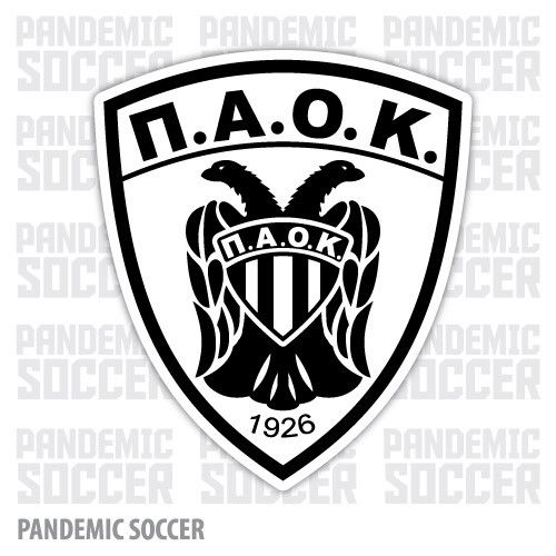 PAOK FC Thessaloniki Greece Color Vinyl Sticker Decal