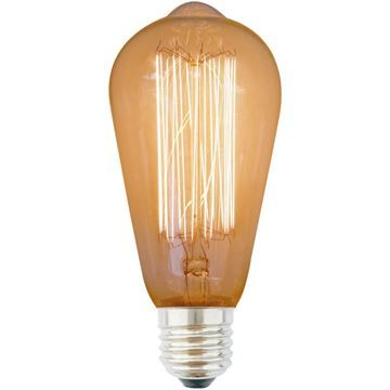 Bec decorativ Edison ST64 40W E27, 220-240V
