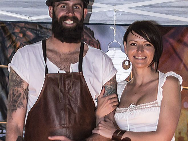 Bonafide Beards at the Medieval Fayre - The old days of markets. @sotallrightnow and @monabean74