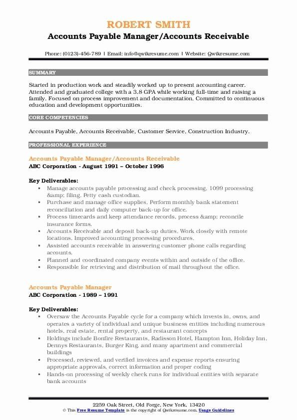 Accounts Payable Manager Resume Elegant Accounts Payable Manager Resume Samples Manager Resume Resume Examples Treatment Plan Template