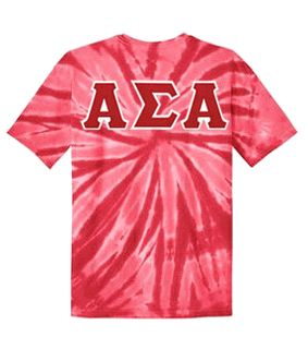 Alpha Sigma Alpha Lettered Tie-Dye t-shirts for only $25!