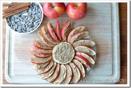 Sunflower apples (with sunbutter)