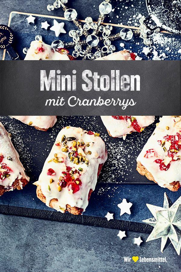 Weihnachtsgebäck Mit Rosinen.Ob Mit Rosinen Kirschen Oder Cranberrys Unsere Mini Stollen