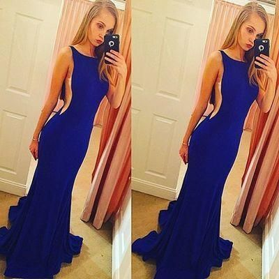 Backless Prom Gowns Elegant Mermaid Open Backs Evening Dress Sexy Evening Dresses For Teens