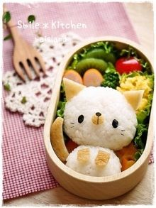 Kawaii food - cute cat bento box