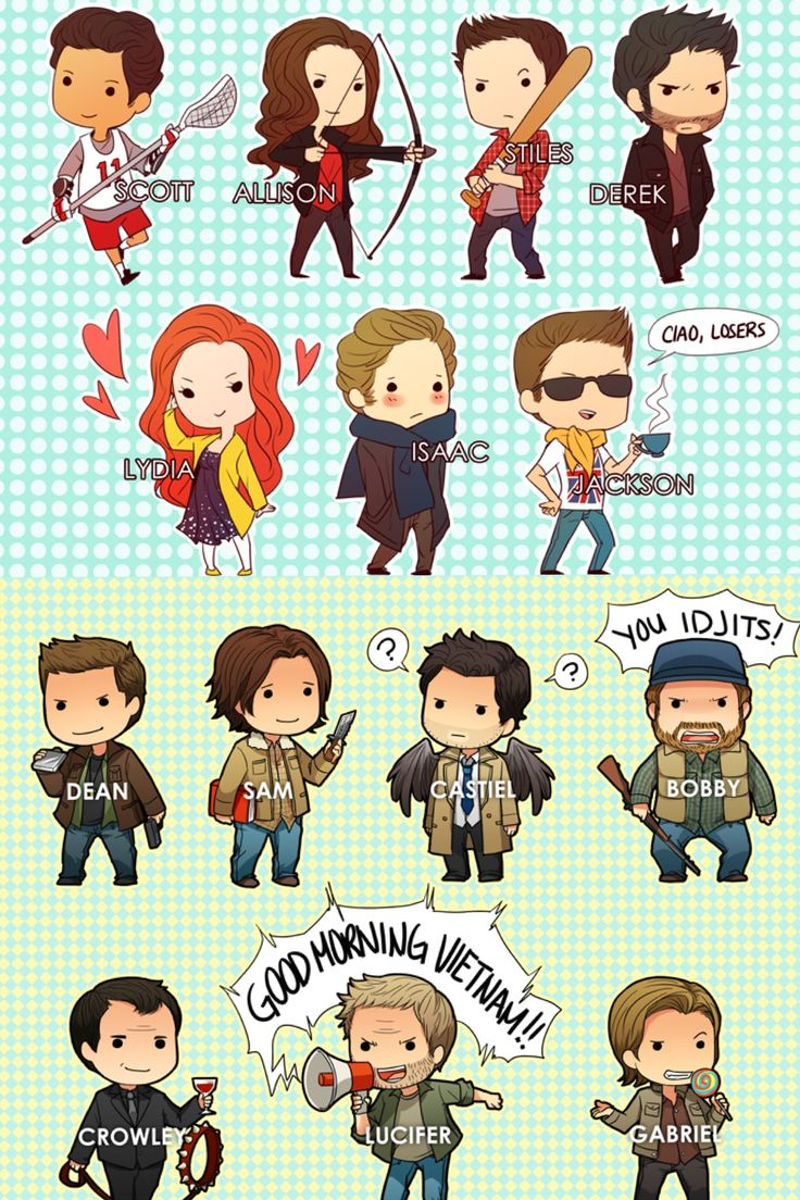 Teen wolf/Supernatural chibi cute