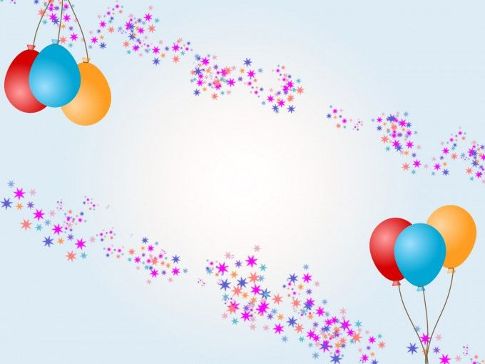 Download Free Balloons With Stars For Birthday Ppt
