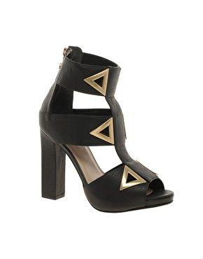 Kat Maconie Sylvia Three Strap Zip Back Shoes  $447.63 - black