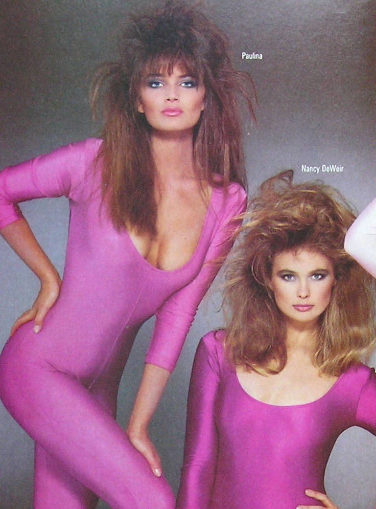 I don't care that it's Vogue Magazine - I say that is some seriously BAD 80s hair.  Sorry, Paulina.  Love ya.