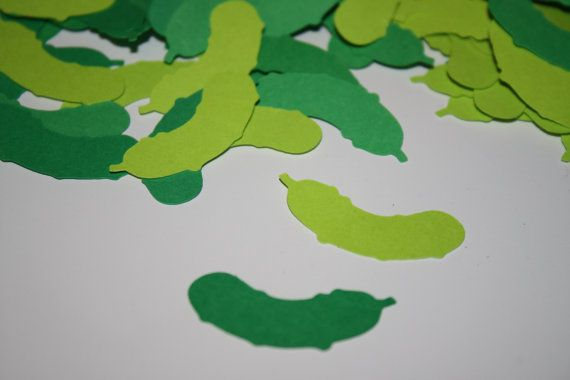 200 pieces Pickle Confetti Birthday or Baby Shower