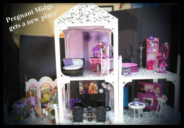 Ooak happy family barbie house by bargainfancy michele for S furniture tunstall
