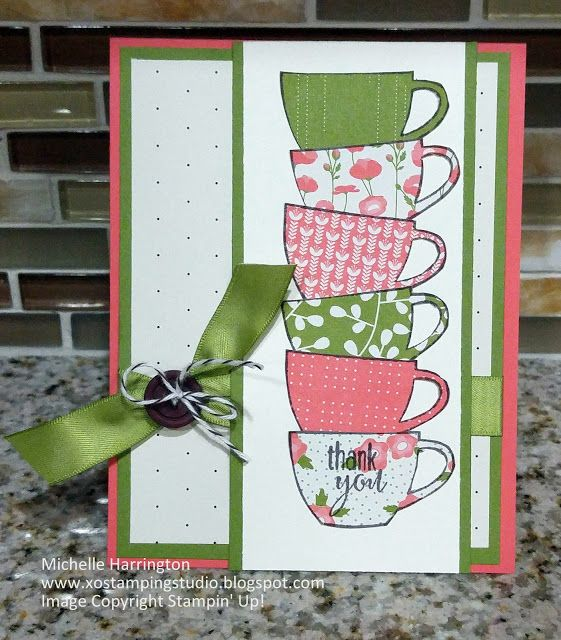 My Paper Pumpkin - July 2015 - Thanks a Latte -  www.xostampingstudio.blogspot.com - Michelle Harrington - Stampin' Up! - SU!