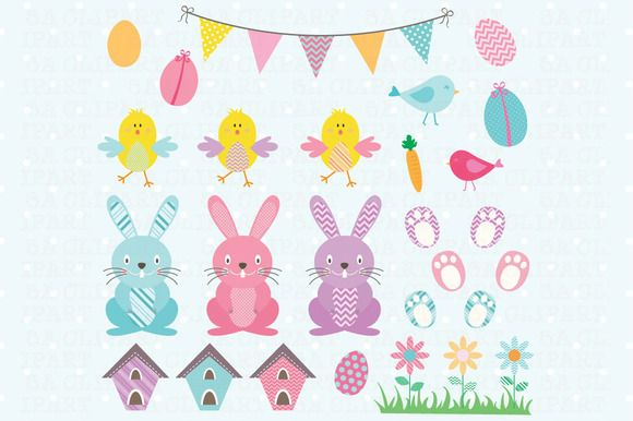 Easter ClipArt  by SA ClipArt on @creativemarket
