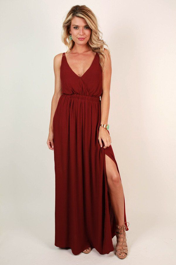 Ciao Bella Maxi in Crimson | awesome color and fit, a classic maxi with really good detail