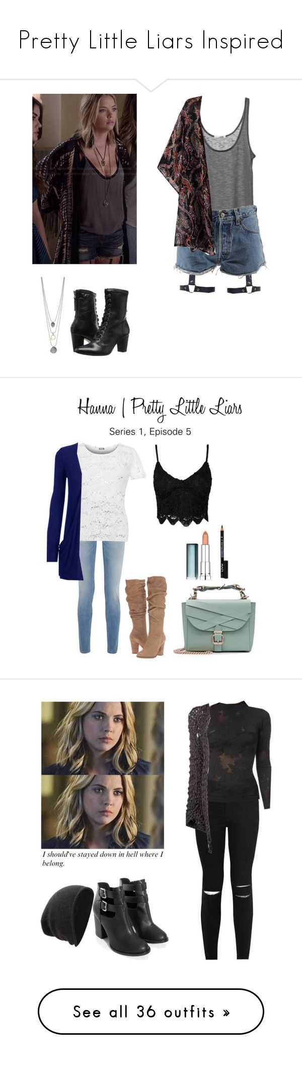 """""""Pretty Little Liars Inspired"""" by starrydancer ❤ liked on Polyvore featuring Levi's, Johnston & Murphy, Givenchy, WearAll, Steve Madden, Marina Hoermanseder, NYX, Maybelline, cute and PrettyLittleLiars"""
