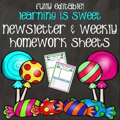 Newsletter and Weekly Homework Templates! Enter for your chance to win 1 of 2. Newsletter Template and Weekly…