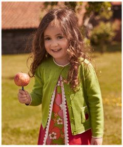 View details of Little Bird by Jools Green Apple Cardigan