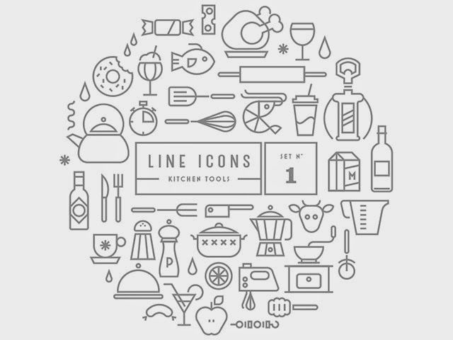 Free PSD Goodies and Mockups for Designers: FREE FOOD ICONS KITCHEN - DOWNLOAD HERE