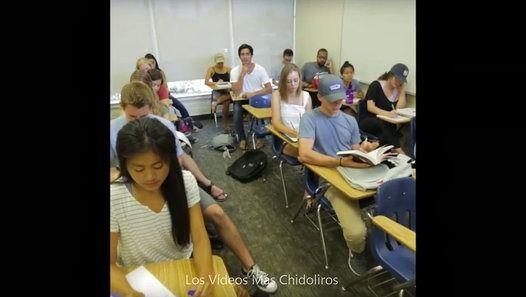Une seule personne dans cette classe cette endormi pouvez-vous deviner lequel ?Une blague du Youtuber Zach King. http://www.dailymotion.com/video/k7JTFrwjuyyIX4juETX