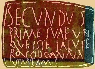 pompeii graffiti amat | Secundus à sa chère Prima:le bonjour où que soit la dame de mon ...