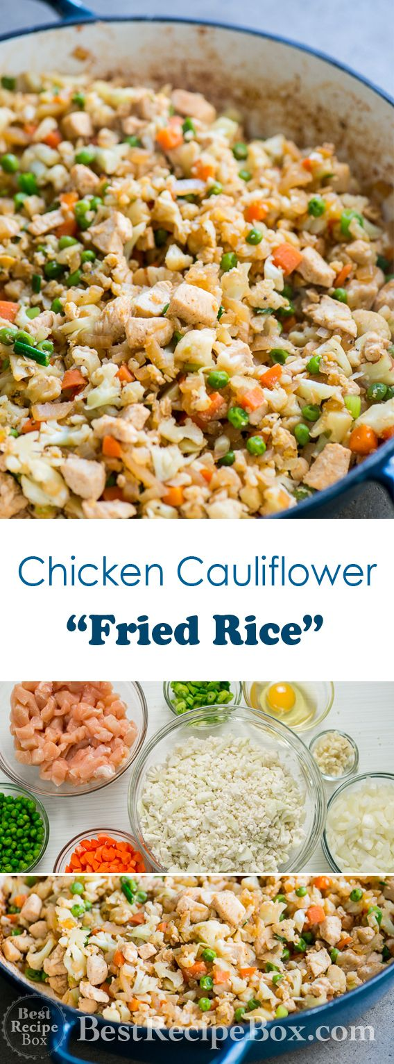 Cauliflower fried Rice Recipe with Chicken that's Healthy and Easy! | @bestrecipebox