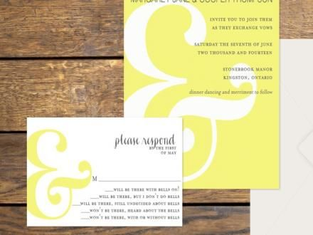 Modern Ampersand Recycled Wedding Invitations | Green Bride Guide