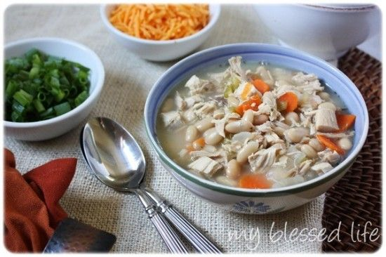 White Chicken Chili Soup Recipe — My Blessed Life™