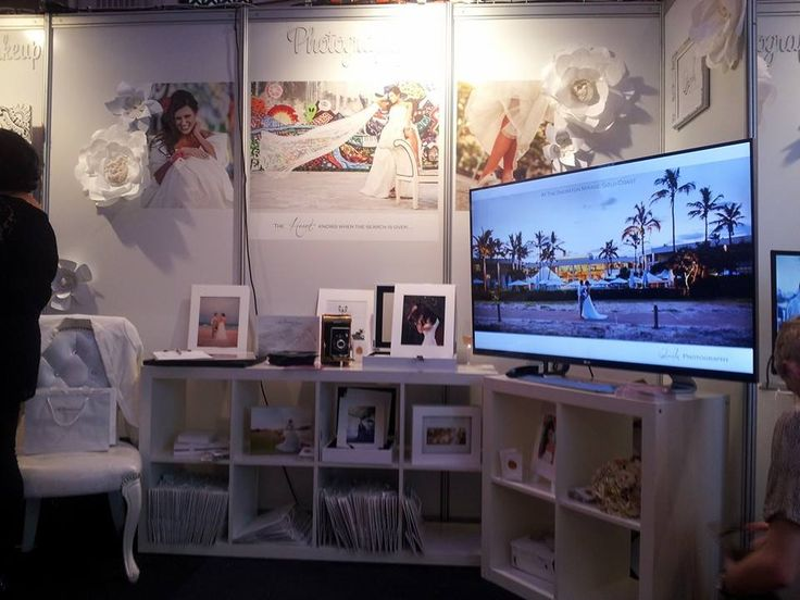 Qualis Photography stall looking fantastic at the 2014 Ideal Bride Expo.   http://www.mybridalcentre.com.au/service-providers/qualis-photography/