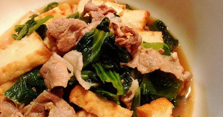 豚肉と高菜と厚揚げのさっと煮 by まこりんとペン子