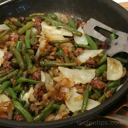 Quick Ground Beef and Vegetable Skillet Recipe Image