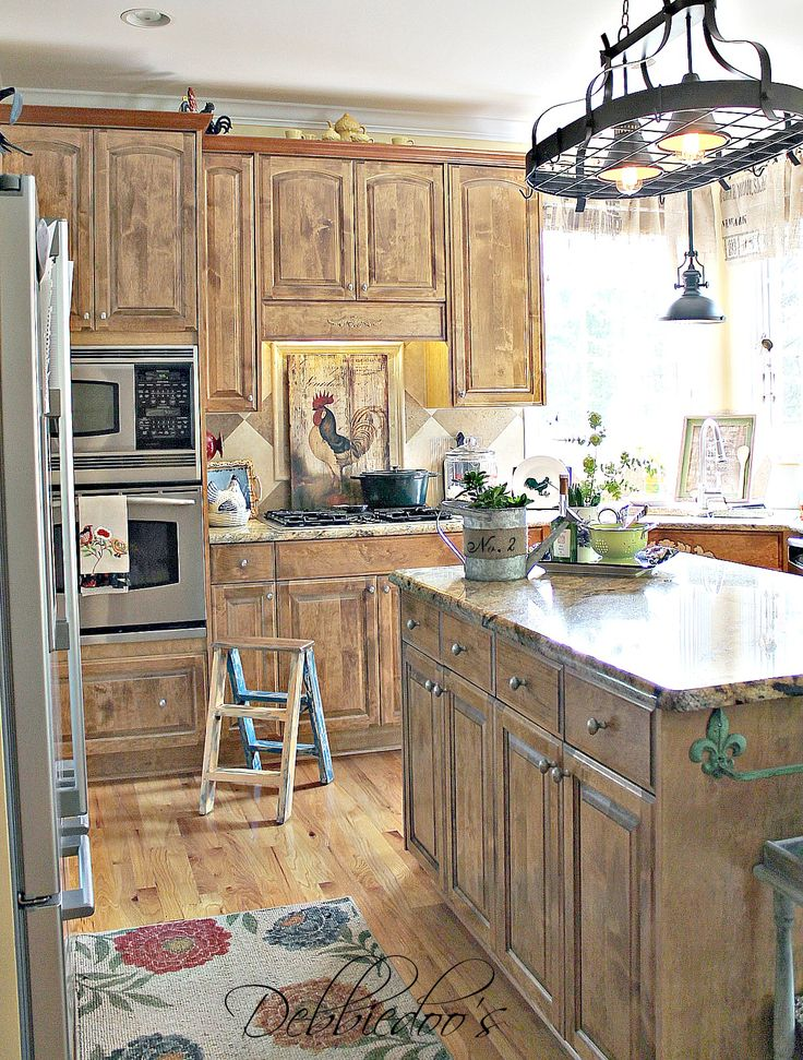 It's not white! #Rustic decor and decorating in the kitchen on a #budget.