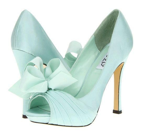 Mint green heels for a mint green and pink quinceanera!: http://www.quinceanera.com/decorations-themes/mint-green-pink-quinceanera/?utm_source=pinterest&utm_medium=article&utm_campaign=012715-mint-green-pink-quinceanera