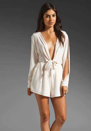 Finders Keepers Buckets of Rain Playsuit in Ivory  @REVOLVE Clothing