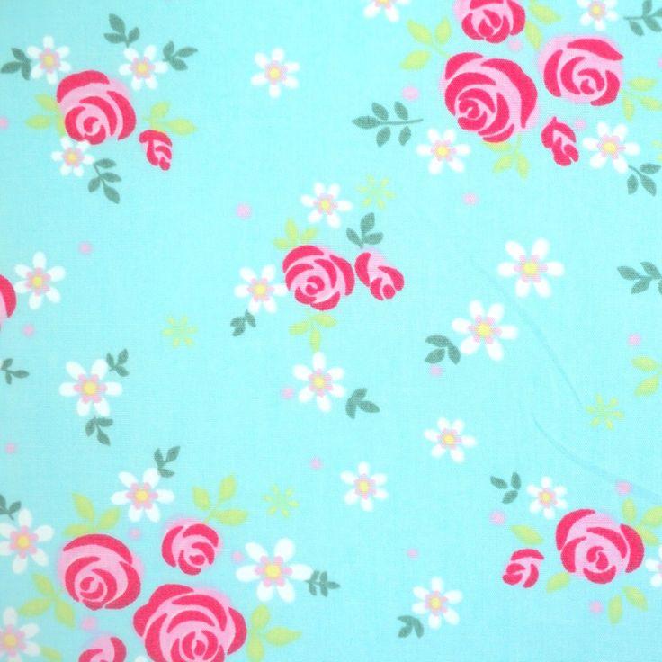 Dolly Rose - Modern Floral - Aqua