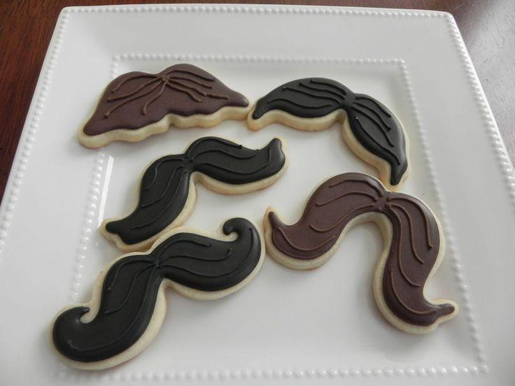 Mustache cookies, Yum !!