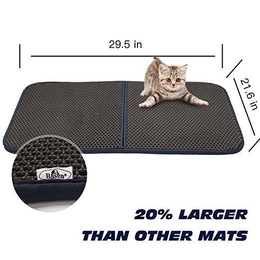 Katzenstreu Trapper Kitty Wurf Matte, Faltbare Wasserdichte Wabenplatte - Schützen Sie Boden und Teppich, Einfache Saubere Lochmatte: Amazon.de: Haustier