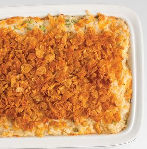 Feel free to use your favorite flavor of condensed soup to make this Cheesy Potato Casserole your family's favorite.