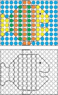 Mosaic Pattern Free Sample Page and activity ideas to go along with the freebie.  Encourage visual perceptual and fine motor skills.