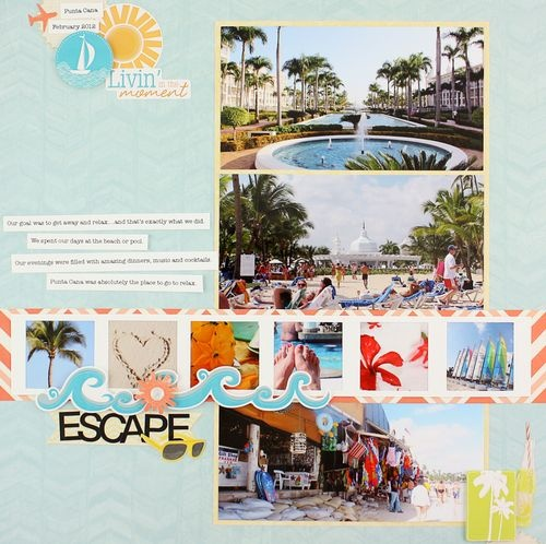 Creative Memories summer page