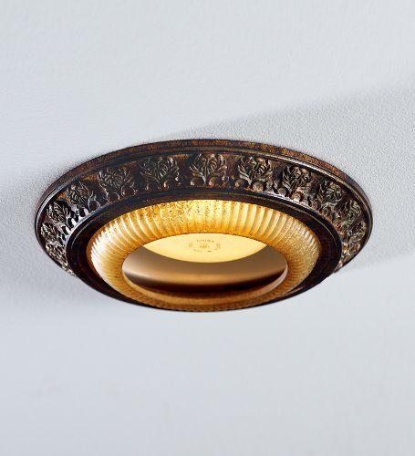 Acanthus Leaves Recessed Light Cap Ring, in Decorative Bronze Plow & Hearth http://www.amazon.com/dp/B005FYBADW/ref=cm_sw_r_pi_dp_RXESub153ABK6
