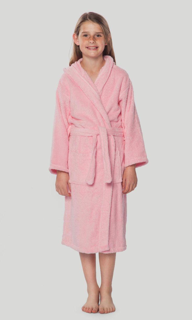Kids Bathrobes :: Terry Kids Hooded Bathrobes :: 100% Turkish Cotton Pink Hooded Terry Kid's Bathrobe - Wholesale bathrobes, Spa robes, Kids robes, Cotton robes, Spa Slippers, Wholesale Towels
