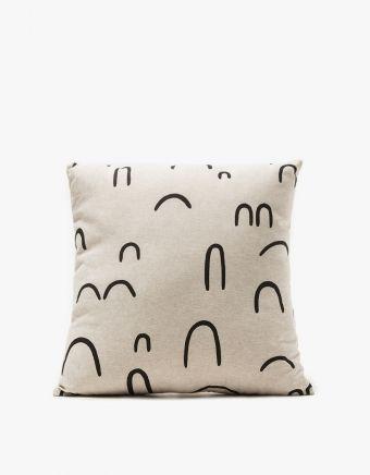 Linen Medium Throw Pillow - Hills+Valleys