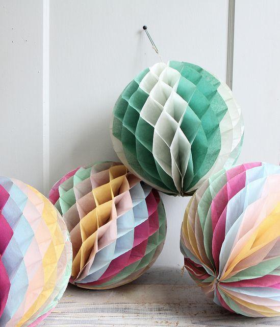 ethanolie: Paper Ball, Vintage Paper, Vintage Crepes, Crepes Paper Decor, Diy Fashion, Diy Gift, Crepe Paper, Crafts, Paper Decorations