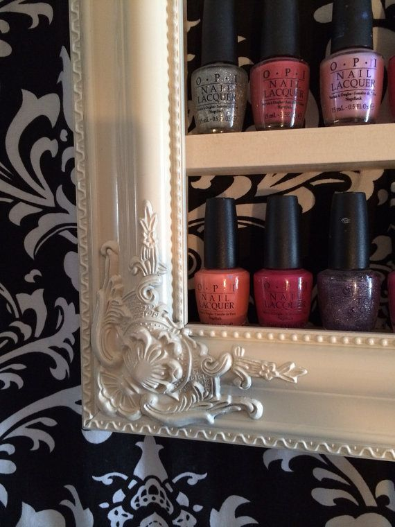 Nail Polish Decorative Shelf by RustyElegance on Etsy