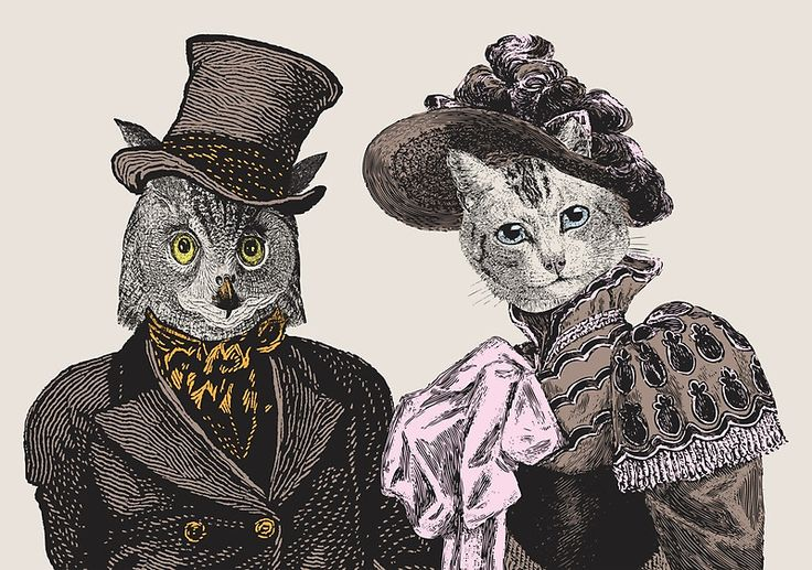 The Owl and the Pussycat - art print