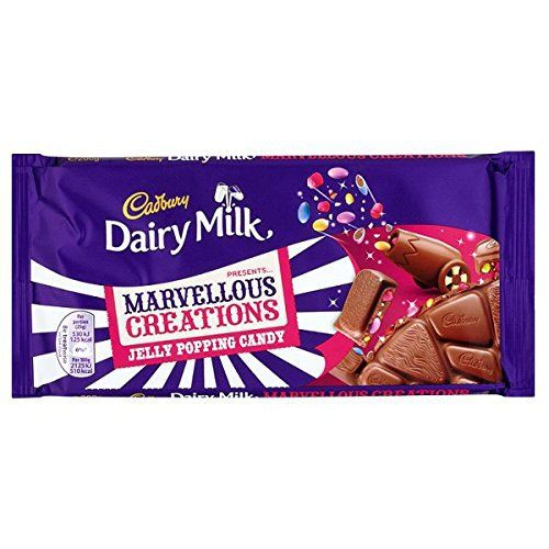 British Cadbury Dairy Milk Marvellous Creations Jelly Popping Candy Chocolate Bar - Ships From The UK - Case Of 14 x 200g Bars - http://bestchocolateshop.com/british-cadbury-dairy-milk-marvellous-creations-jelly-popping-candy-chocolate-bar-ships-from-the-uk-case-of-14-x-200g-bars/